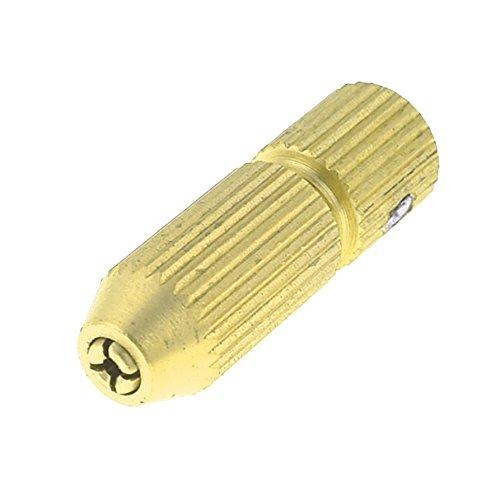 portabrocas electricos - SODIAL(R) Mini portabrocas electricos de 0, 8-1, 2mm de eje de motor de 3, 17 mm de laton de tono de oro