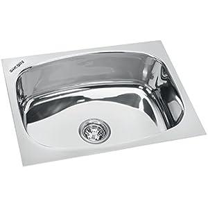 SINCORE Kitchen Sink Splash X-Large 24 in X 18 in X 10 in MATT Finish Single Bowl 304 Grade Stainless Steel