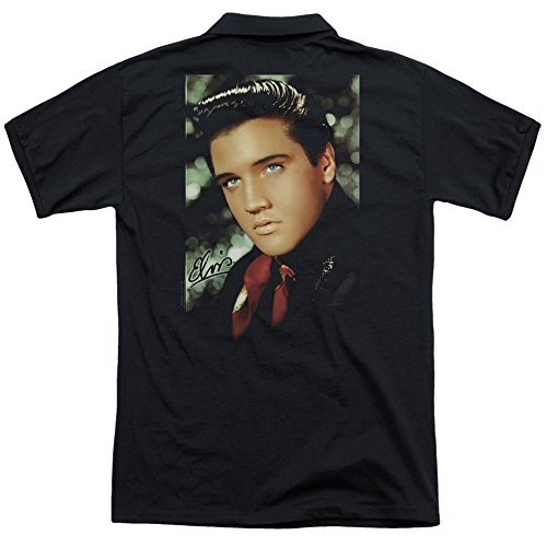 Elvis-Presley-Red-Scarf-Smile-Adult-Polo-Back-Print