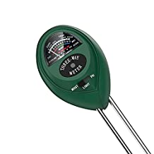 Dr.meter S30 3-in-1 moisture meter,Light and pH Acidity Tester Plant Tester for Indoor,Outdoor Greenhouse Color Green--No Battery or Electricity.