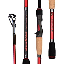 KastKing Speed Demon Bass Series Fishing Rods, Dimensional 16 High Modulus 1 Pcs Blanks, Fuji Guides and Reel Seats(1pcs Casting/6'8' Sq. Bill Crankin')