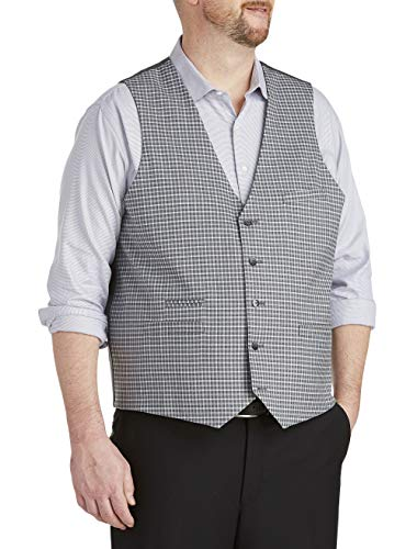 Oak Hill by DXL Big and Tall Reversible Vest Grey