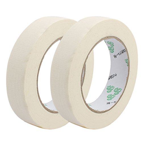 uxcell 2PCS 2.5cm Width Adhesive Paper Painting Writing Decoration Tape White 50M Length by uxcell