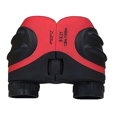 Luwint 8 X 21 Kids Binoculars for Bird Watching, Watching Wildlife or Scenery, Game, Mini Compact and Image Stabilized, Best Gifts for Children (Folding Binoculars Kids)