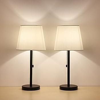 Haitral Table Lamp Set Of  Modern Desk Light Black Nightstand Lamps