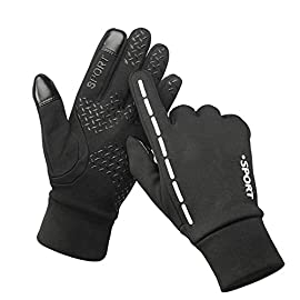 Leber Running Gloves Touch Screen for Men and Women Waterproof and Winter Warm Perfect Bike Riding Motorcycle Running…