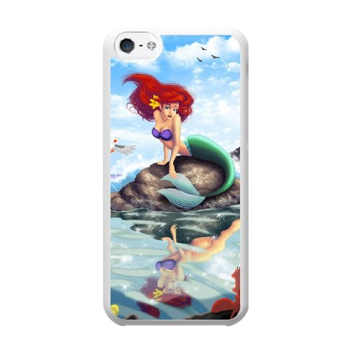 Coque,Coque iphone 5C Case Coque, Little Mermaid Fan Art Cover For Coque iphone 5C Cell Phone Case Cover blanc