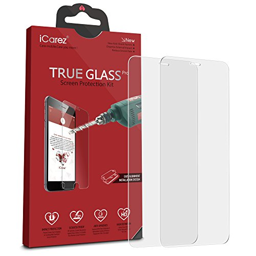 iCarez [Tempered Glass ] Screen Protector for Samsung Galaxy S8 Active Highest Quality Easy Install [ 2-Pack 0.33MM 9H 2.5D] with Lifetime Replacement Warranty