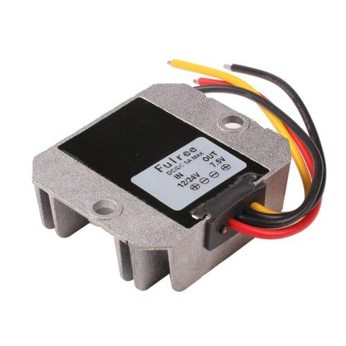 Alloet DC 12/24V to 7.5V 5A Power Converter Regulator Module Step Down Adapter
