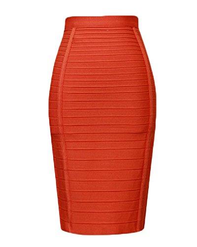 Orange Womens Skirt - 5
