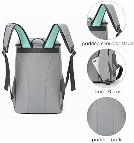 TOURIT Cooler Backpack 30 Cans Lightweight Insulated Backpack Cooler Leak-Proof Soft Cooler Bag Large Capacity for Men Women to Picnics, Camping, Hiking, Beach, Park or Day Trips 6