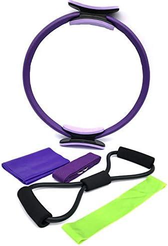 SNOWINSPRING Pilates Ring mit Widerstandsgurt//Zuggurt Starker Fitness Training Kreis f/ür Ganz K?Rper Toning Yoga und Kraft Training