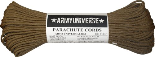 Army Universe Coyote Brown 550LB Military Nylon Paracord Rope 100 Feet by Army Universe (Image #3)