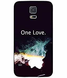 Man Smoking- One Love TPU RUBBER SILICONE Phone Case Back Cover Samsung Galaxy S5 I9600
