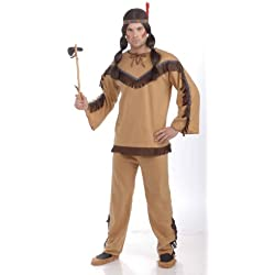 Forum Novelties Men's Adult Native American Brave Costume, Multi Colored, One Size