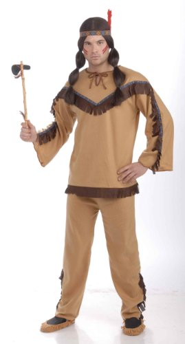 Forum Novelties Men's Adult Native American Brave Costume, Multi Colored, One Size (Indian Mens Costume)