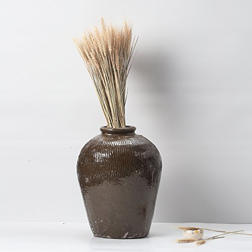 Alston's Craft handwrapped Wicker and rice wine jar Vase. Ideal Gift for home, office, spa, Reiki, organic/natural settings, wedding, dried floral arrangements,Plain color by Alston (Image #2)