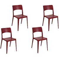 Tensai Vanity Chair in Bordeaux - Set of 4
