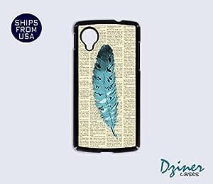 Nexus 5 Case - Newspaper Cute Feather iPhone Cover
