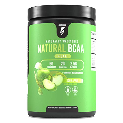 Inno Supps All Natural Vegan BCAAs + EAA (Sour Apple)