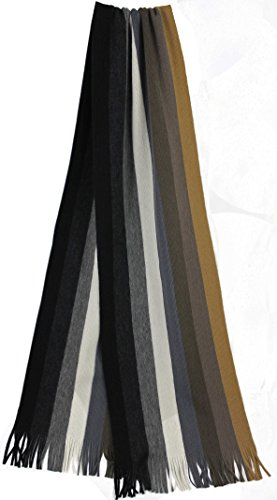 Rotfuchs Scarf - knitted, white brown 100% wool (Merino) by Rotfuchs (Image #1)