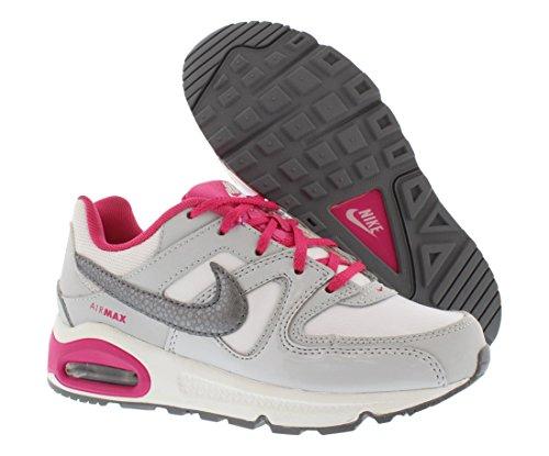 Nike Air Max Command (PS), Zapatillas de Deporte Para Niñas Blanco / Gris / Rosa (White / Mtlc Cl Gry-Vvd Pnk-Cl G)