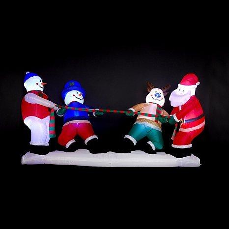 Winter Lane Huge 10 Foot Christmas Tug-of-War Inflatable by Winter Lane