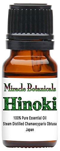 Miracle Botanicals Hinoki Essential Oil - 100% Pure Chamaecyparis Obtuse - 10ml or 30ml Sizes - Therapeutic Grade - 10ml