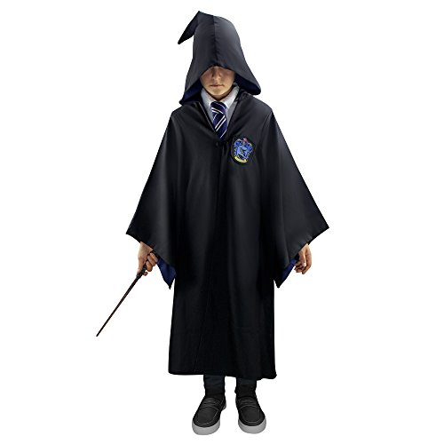 Harry Potter Authentic Tailored Wizard Robes Cloak by Cinereplicas,Ravenclaw,Kids 8y to 10y (XS)