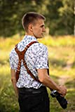 Leather Camera Harness for Two-Cameras, Dual Camera Harness, Multi Camera Gear for DSLR/SLR, Double Camera Strap