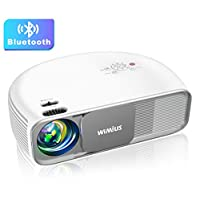 Bluetooth Projector Native 1920x1080P Full HD, WiMiUS Upgrade S4 Home & Outdoor Projector Support 4K & Dolby, 300″ Led Video Projector Compatible with Fire TV Stick, PS4, Laptop, iPhone, DVD