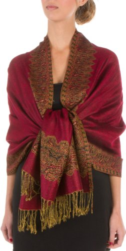 秋天来了 优雅的女人都在用披肩! Sakkas 双层羊绒质感女士披肩