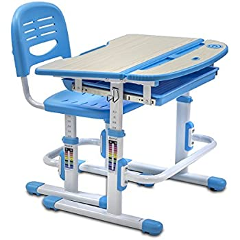 Mount It! Childrenu0027s Desk And Chair Set, Kids School Workstation, Height  Adjustable