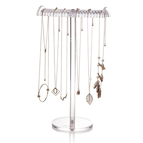 "Acrylic T-Bar Tall Jewelry Display Stand 13.4""H Choice Fun"