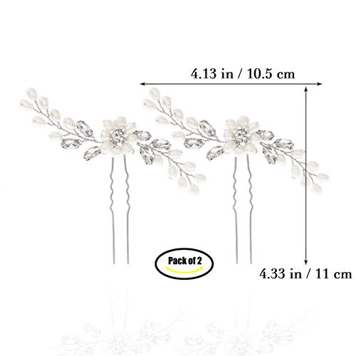 62d4f995d35b Unicra Bride Wedding Pearl Hair Pins Wedding Bridal Hair Pieces Accessories  for Women and Girls (