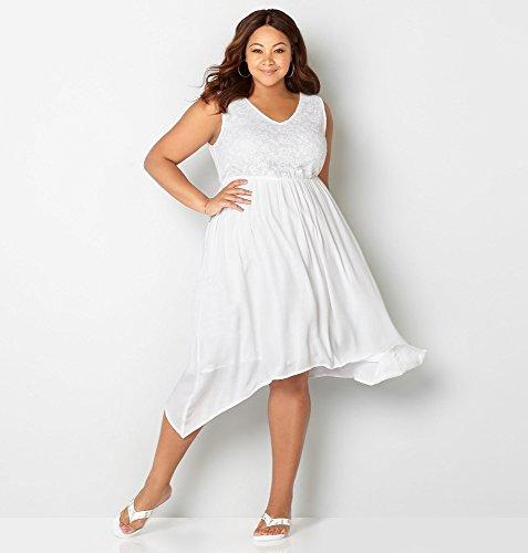 AVENUE-Womens-Lace-Bodice-Sharkbite-Dress