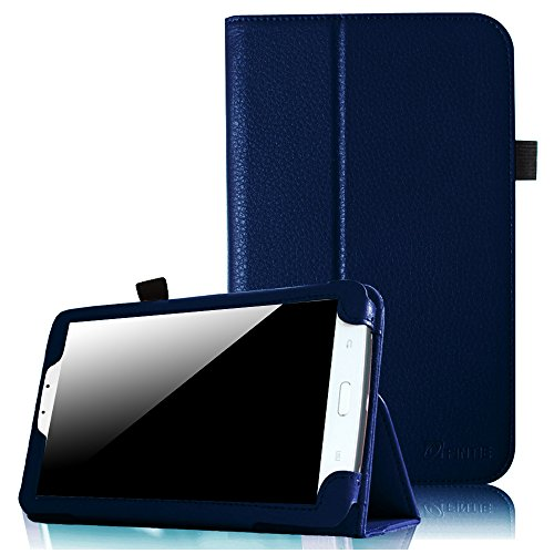 Fintie Samsung Galaxy Tab 3 7.0 Case - Slim Fit Premium Vegan Leather Folio Cover for Samsung Tab 3 7.0 Inch SM T210 / SM T211 Android Tablet (will not fit Galaxy Tab 3 Lite 7.0), Navy