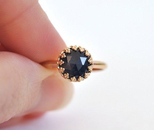 Anillo de Zafiro Azul - Anillo de Compromiso - Anillo de Oro 14k - Blue Sapphire & 14k Gold Ring - Blue Sapphire Engagement...