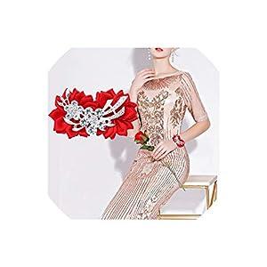 alerghrg Artificial Diamond Silk Ribbon Flowers Wrist Corsage for Bridesmaid Bracelet Flower Bracelet Hand Mariage Wedding Ceremony Party 31