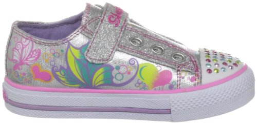 Mode Brite Fille Shuffles smlt Argent Skechers Wing Baskets waqfaUg