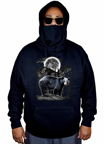 Bear Black Hooded Sweatshirt - 8