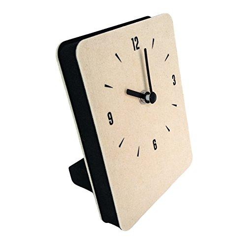 Cheap thehaki Multipurpose Felt Table & Wall Clock Non-Ticking Silent Quartz Movement Desk Clock (Cream)