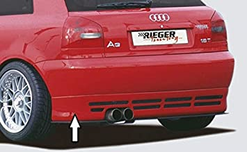 Rieger Trasero Enfoque Negro Mate para Audi A3 (8L): Amazon.es: Coche y moto