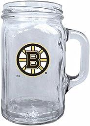 Boston Bruins 16oz Glass NHL Mason Mug