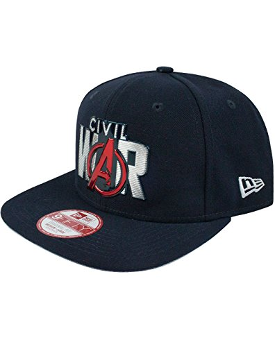 New Era 9Fifty Captain America Civil War Liquid Chrome Logo Snapback Cap (S-M)