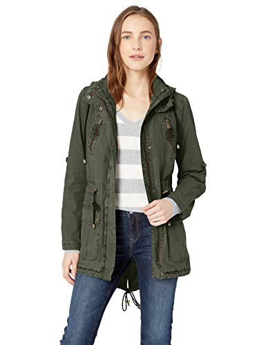 Levi's Women's Lightweight Cotton Hooded Anorak Jacket, Army Green, Medium - Lightweight Parka Hooded