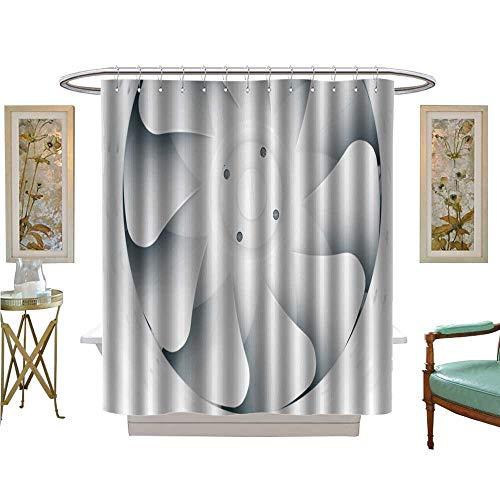 Sunflowers Fan Blades Set - luvoluxhome Shower Curtains Sets Bathroom Part of Fan Blade Ventilation System Bathroom Decor Set with Hooks W48 x L72