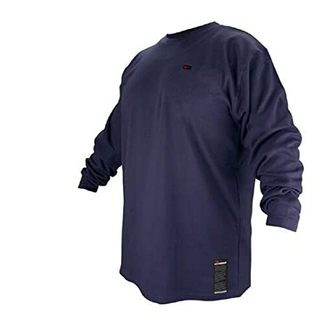 622e48f0976 Black Stallion FTL6-NVY Navy Flame Resistant Cotton Long-sleeve T-Shirt -  Large - Protective Work And Lab Clothing - Amazon.com