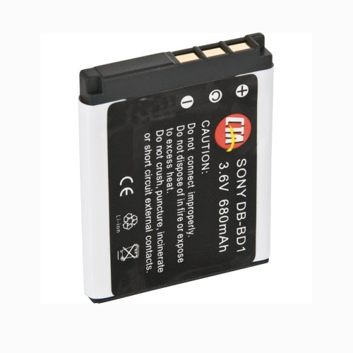 CTA Digital DB-BD1, Rechargeable Lithium-Ion Battery (680mAh, 3.6V) Replacement for Sony NP-BD1 and NP-FD1 (Cta Digital Replacement Battery)