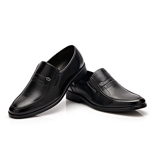 Leather for Leather Leather PU Flats Gentlemen Sole Easy Shoes Go Soft Classic Formal Shopping Shoes Black Shoes Oxfords Men's wqwEanSPX